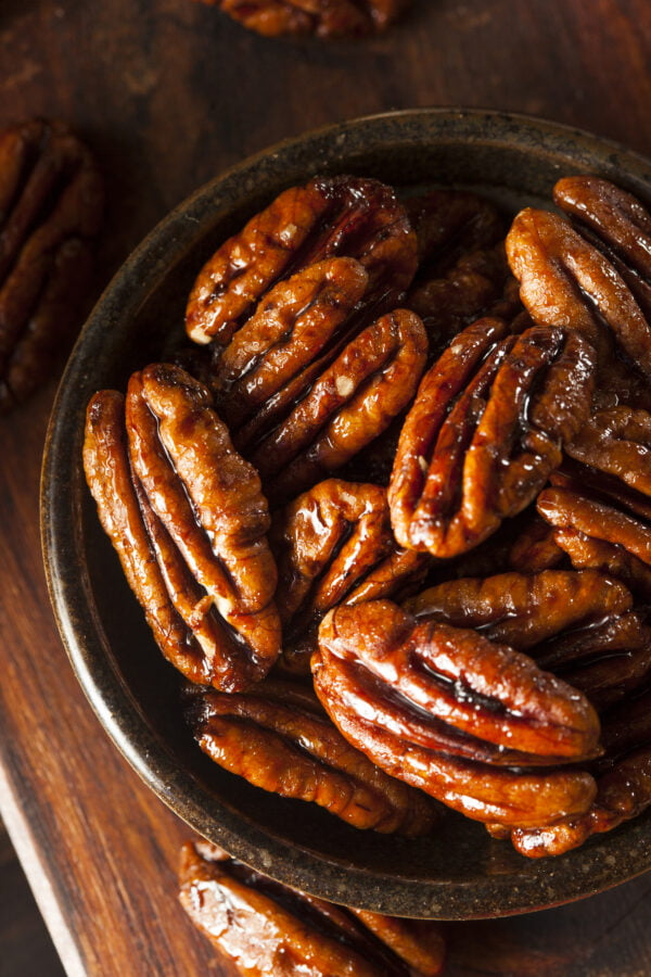 Homemade Candied Pecans with Cinnamon