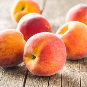 Sweet peaches fruit.